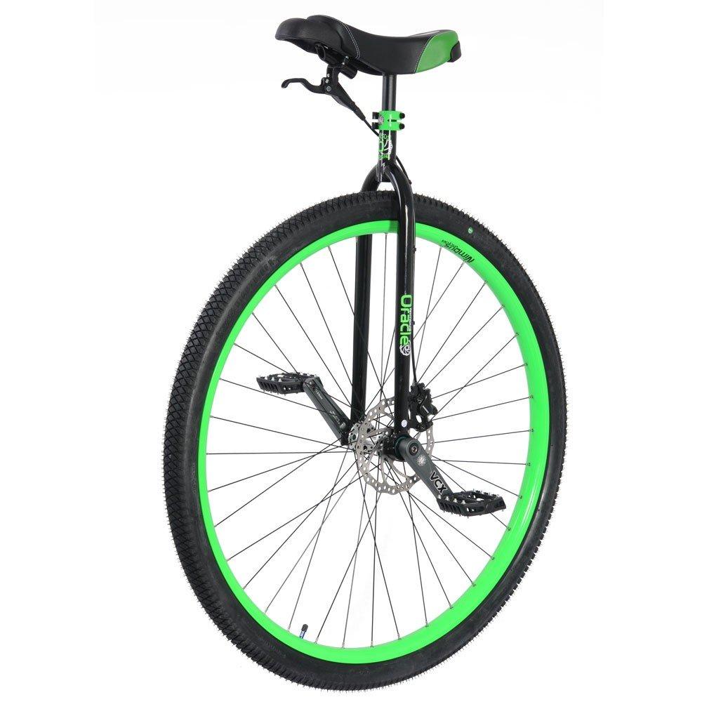 Un monocycle de marque Nimbus avec une grande roue et un frein, adapté à la route.