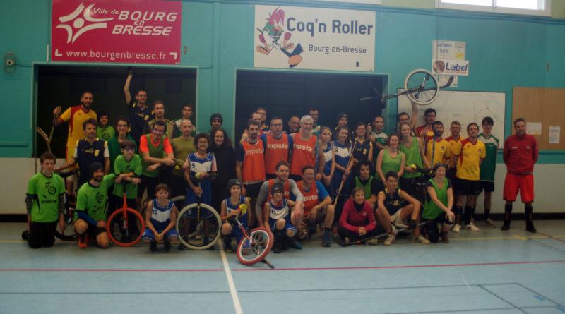 Participants au tournoi de mono-hockey de Bourg-en-Bresse